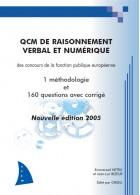 Livre QCM de raisonnement verbal et numérique, édition 2005